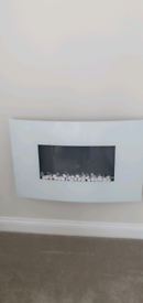 White Wall Mounted Electric Fire