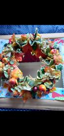 Handmade Autumnal Door Wreath