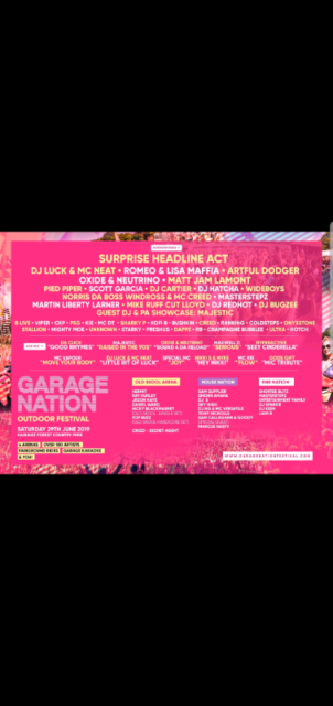 Garage Nation Tickets In Crystal Palace London Gumtree