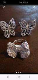 New diamante ring