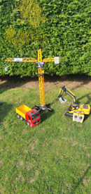 Remote control crane and diggers