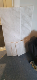 Grey Marble Effect Bathroom PVC Wall Panels Shower Wet Wall