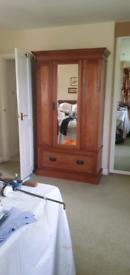 Wooden Wardrobe with Mirrored Door