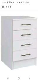 New in box White 500 mm kitchen 4 drawer unit