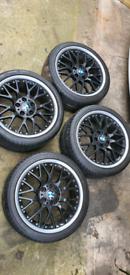 BMW BBS RS 801/802 STAGGERED SPLIT RIMS, GENUINE BMW