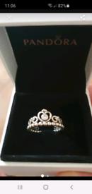 Pandora boxed tiarra ring