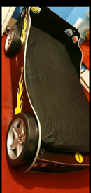 Turbo Race Car Bed with Mattress (single)