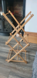 Childs wooden clothes airer / dryer.