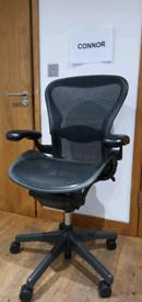 Herman Miller Aeron Chair Size B - Black