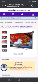 """JVC Smart TV 40"""" with freeview play"""