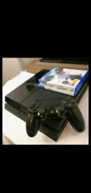 Ps4 console, brand new controller + accessories