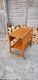 Includes delivery Mid Century G plan style Drinks Trolley Side Table