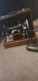 Singer sewing machine working