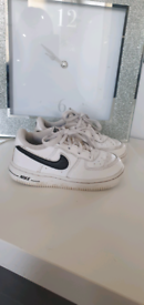 Nike air force trainers size 7.5 infant