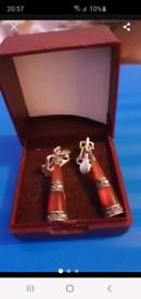 Silver vintage clip on earrings