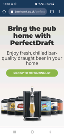 Perfect draft machine