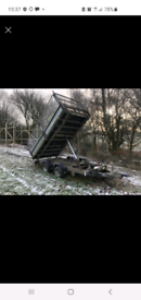 12x6 Ifor Williams Tipping trailer,& 2 others, 14ft tilt bed trailer.