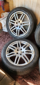 """Vw,audi,seat 3x18"""" alloys 3 with nearly new tyres"""