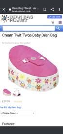 Bean bag planet bean bag for babies, pink