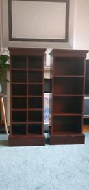 Solid mahogany wood cd/dvd/book storage