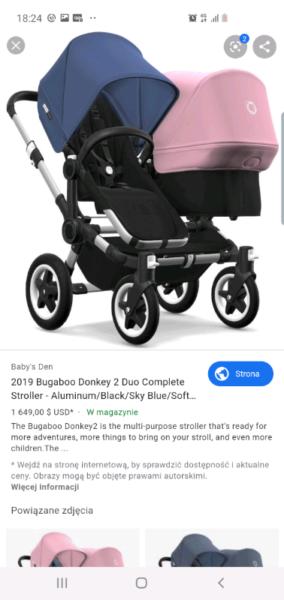 Bugaboo donkey 2 (12/2018), used for sale  Dagenham, East London
