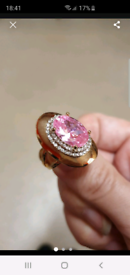Gp pink stone ring