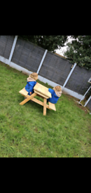 Kids garden bench children's picnic benches