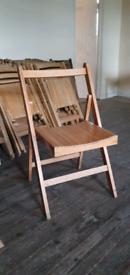Foldable hardwood chairs