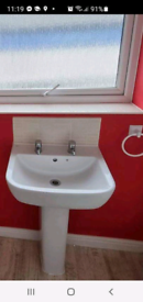 Main sink with taps