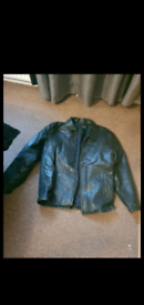 Full leather jacket (L)(REDUCED)