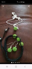 New silver jewellery set