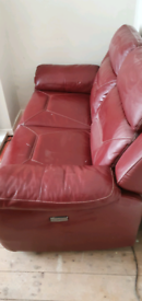 SCS 2 seater leather electric recliner