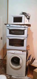 Washing machine, integrated oven. Microwave