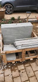 Grey Indian stone patio