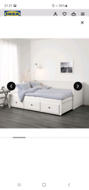 Hemnes pull out bed from ikea