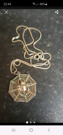 Silver spiderweb necklace