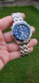2017 Omega Seamaster Diver Co-Axial 300m Diver, Blue Face, Box & Cards