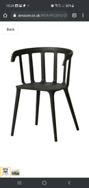 Ikea PS 2012 Black Chair with armrest
