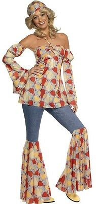 Ladies Classic Hippy Hippie Flares 60s Fancy Dress - Hippie Fancy Dress Plus Size