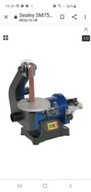 Sealey bench belt and disc grinder
