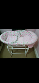 Moses basket with extras