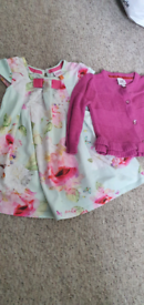 Baby/toddler ted baker dress and cardigan 9/12 months