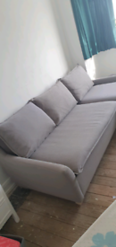 Grey fabric 3 seater sofa with chaise