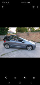 08 PLATE PEUGEOT 207CC GT,1.6 HDI DIESEL,£1450. EXCELLENT CONDITION.