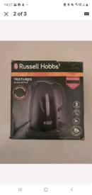 Brand new russell hobbs textures black kettle