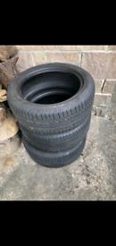 Three nearly brand new Avon car tires 225/50 R17
