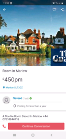 Room In Marlow For Rent
