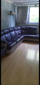 Purple and grey xtra large sofa
