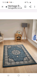 Brand new heritage large floor rug size 160x240 retails £179 in blue