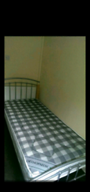 Single bed frame and orthopedic mattress